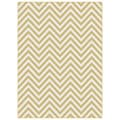 Metropolis Yellow and White Chevron Area Rug (5'3 x 7'3)