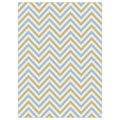 Metropolis Multicolored Chevron Area Rug (5'3 x 7'3)