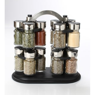 Olde Thompson 16 Jar Twin Carousel Spice Rack