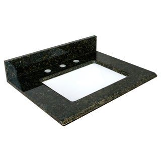 Uba Tuba 25x19 Retangle Granite Top and Rectangle Bowl