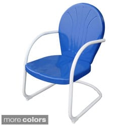 AmeriHome Retro Style Metal Lawn Chair