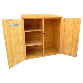 Brown Finish Medium Storage Shed