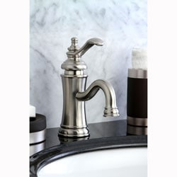 Satin Nickel Centermount Bathroom Faucet