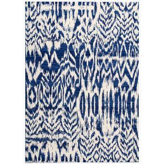 Barclay Butera by Nourison Kaleidoscope Caravan Blue Wool Rug (5'3 x 7'5)