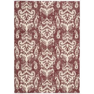Barclay Butera by Nourison Kaleidoscope Crimson Wool Rug (7'9 x 10'10)