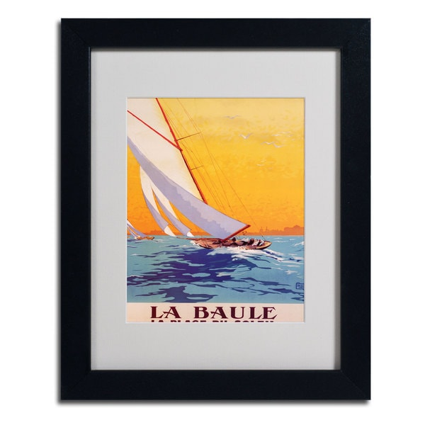 Charles Allo 'La Baule' Vertical Framed Matted Art