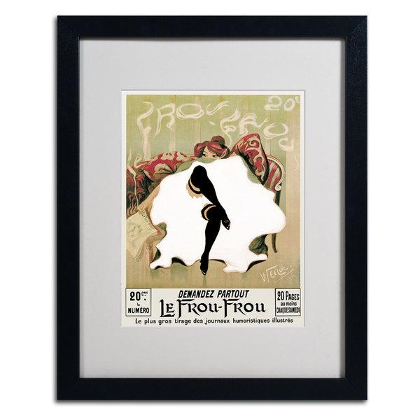 Lucien Henri Weiluc 'Le Frou Frou' Classic Framed Matted Art