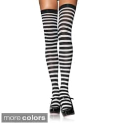 Leg Avenue Over-the-knee Nylon Striped Stockings