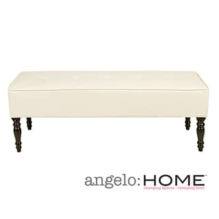 angelo:HOME Brighton Hill Marzipan Cream Renu Leather Large Bench