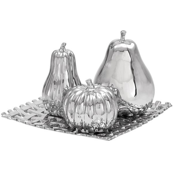 Casa Cortes Ceramic Plate With Decorative Fruit Center Piece And Table Decor