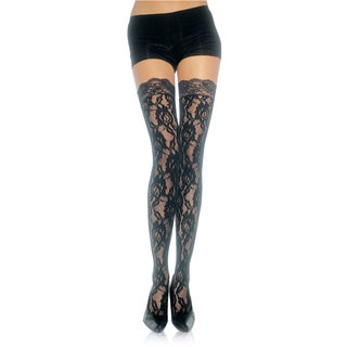 Leg Avenue Lace Thigh-high Stocking With Lace Top