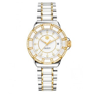 Tag Heuer Women's 'Formula 1' Steel/ Ceramic Diamond Accented Watch