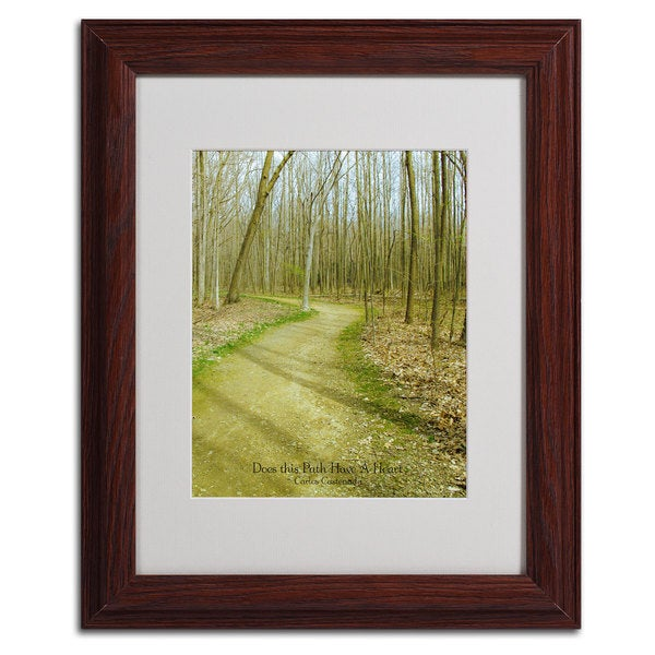 Kathie McCurdy 'Does This Path Have a Heart' Framed Matted Wall Art