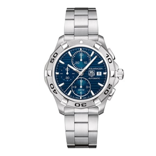 TAG Heuer Men's 'Aquaracer' Blue Dial Automatic Chronograph Watch