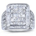 Annello 14k White Gold 2 ct TDW Ladies Diamond Composite Ring (H-I, I1-I2)