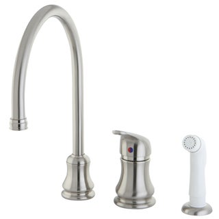 Satin Nickel 3-hole Kitchen Faucet and Sprayer