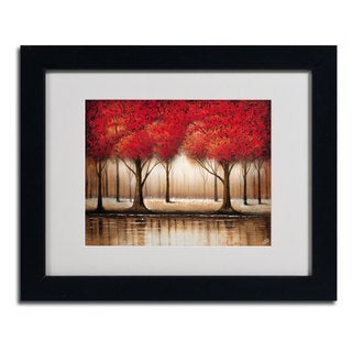 Rio 'Parade of Red Trees' Horizontal Framed Matted Art