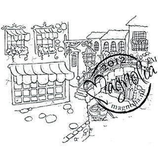 With Love 'Venice' Cling Rubber Stamp
