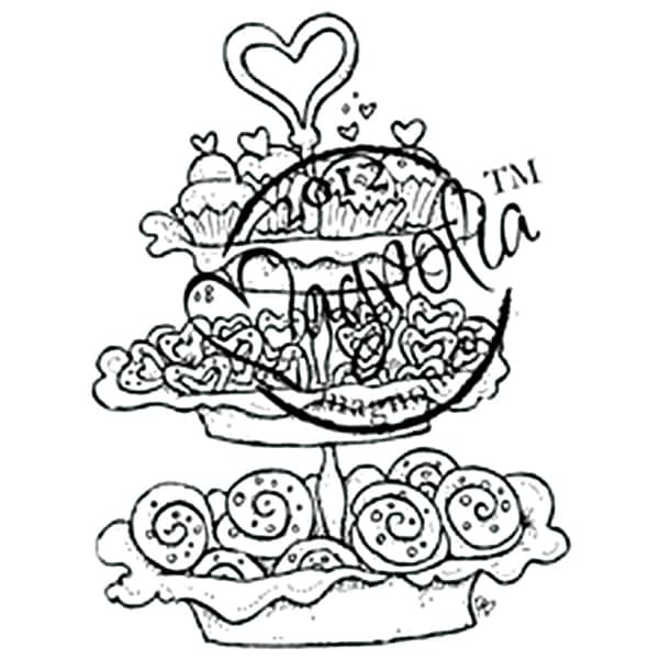With Love 'Baked with Love' Cling Rubber Stamp