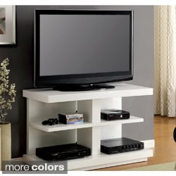 Furniture of America Galaxy Modern 47-inch White High-gloss Lacquer Finish Media Console