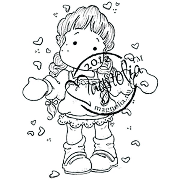 With Love 'Tilda Love is in the Air' Cling Rubber Stamp