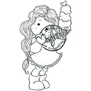 With Love 'Tilda with Big Ice Cream' Cling Rubber Stamp