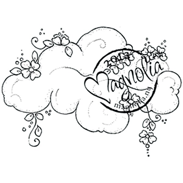 With Love 'Flower Cloud' Cling Rubber Stamp