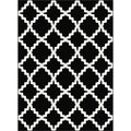 Metropolis Black and White Moroccan Print Area Rug (2'7 x 7'3)