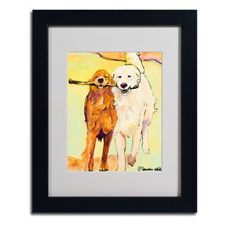 Pat Saunders 'Stick With Me 1' Framed Matted Canvas Art