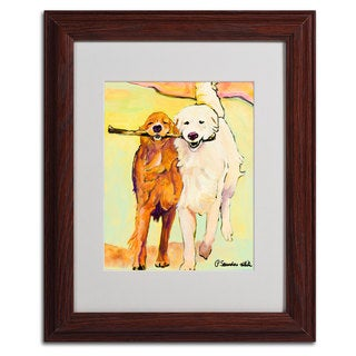 Pat Saunders 'Stick With Me 1' Framed Matted Art