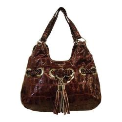 Women's Blingalicious Croco Print Fashion Handbag Q935 Red
