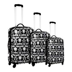 Women's Blingalicious Crown Printed Luggage CWP1070 Black