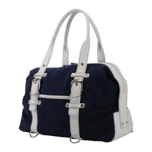 Women's Crescent Moon Yoga Tool Mat Bag Navy/White