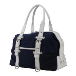 Women's Crescent Moon Yoga Tool Mat Bag Navy/White
