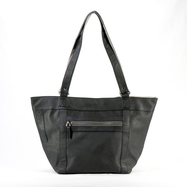 Sacs of Life Black/ Charcoal Reversable Tote with Shopping Tote