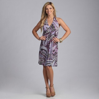 Talia Women's Paisley Halter Dress