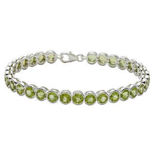 Oravo Sterling Silver Round-cut Peridot Bracelet