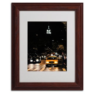 Ariane Moshayedi 'Empire State of Mind' Vertical Framed Matted Art