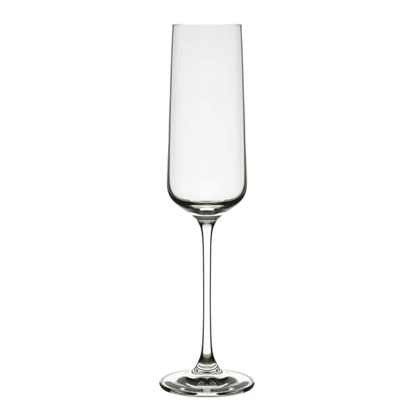 10 Strawberry Street Glass Champagne Flutes (Set of 6)