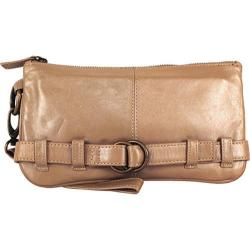 Women's Latico Penelope Clutch/Wristlet 1809 Metallic Taupe Leather