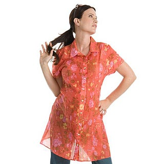 Juliet Dream Floral Silk Shirt Dress