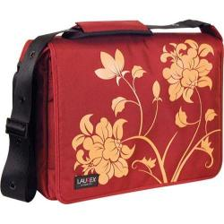 Women's Laurex 17in Laptop Messenger Bag Red Blossom/Red