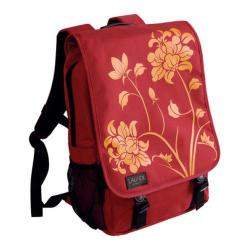 Women's Laurex 15.6in Laptop Computer Backpack Red Blossom