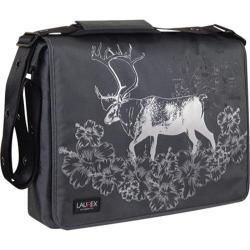 Women's Laurex 17in Laptop Messenger Bag Gray Elk