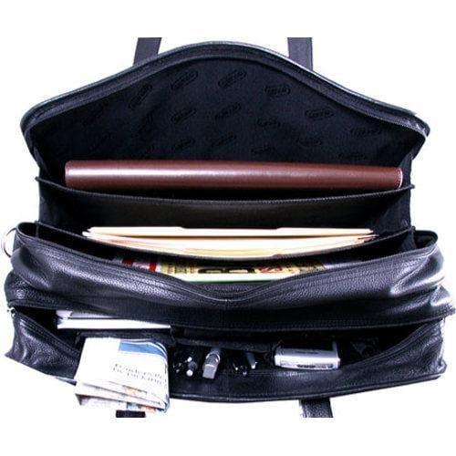 Leatherbay Cambridge Briefcase Black