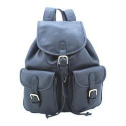 Leatherbay Pocket Backpack Black