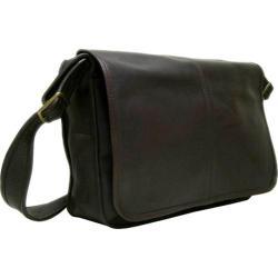 LeDonne 2116 Cafe Leather Messenger Bag