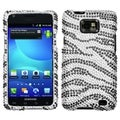 BasAcc Black Zebra Diamante Case for Samsung Galaxy S II/ Attain i777