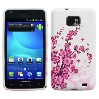 INSTEN Spring Flowers Candy Skin Phone Case Cover for Samsung i777 Galaxy S II