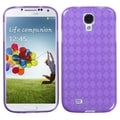 BasAcc Purple Argyle Pane Candy Skin Case for Samsung Galaxy S IV/ S4